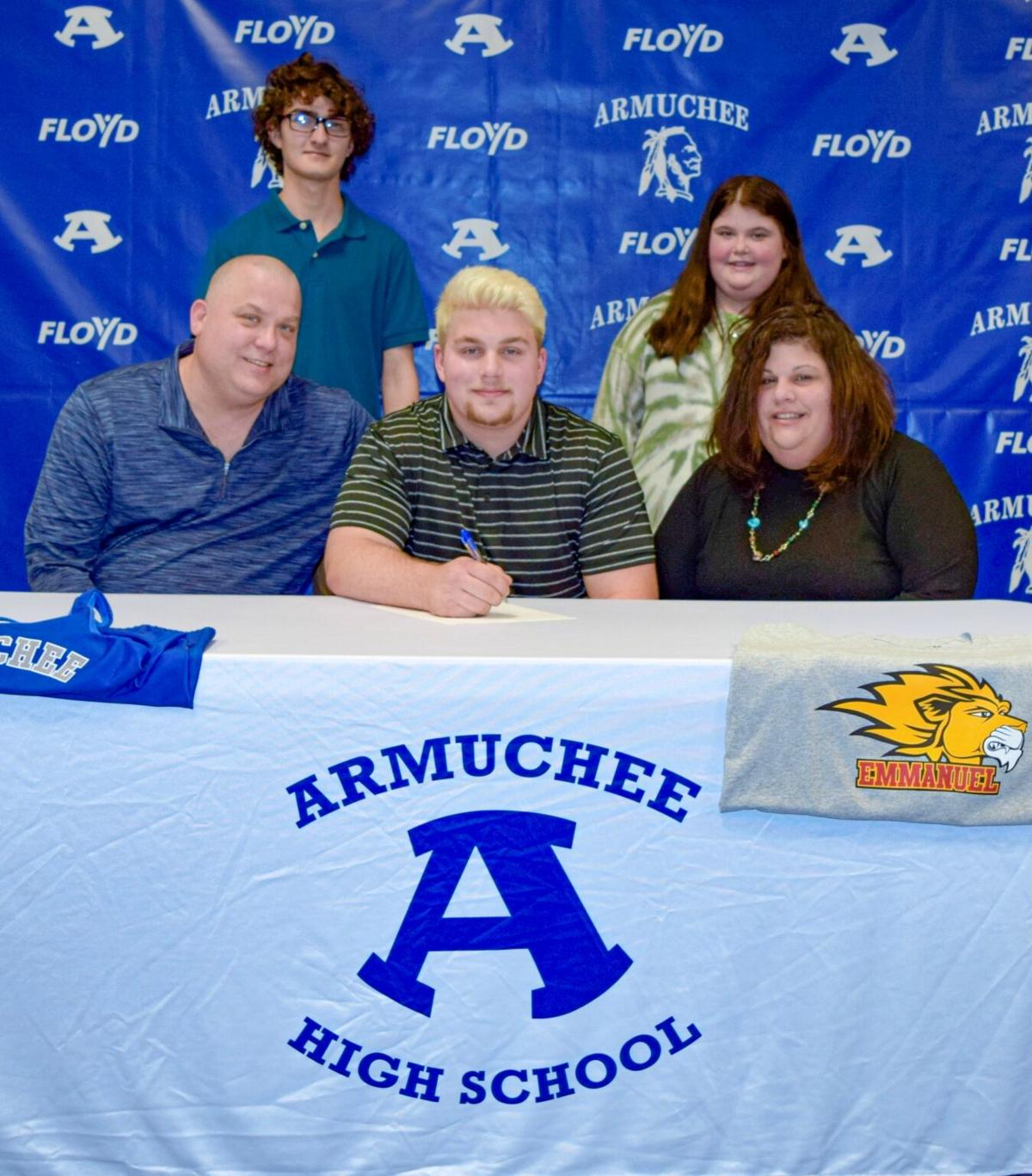 Armuchee's Joey Green signs with Emmanuel College