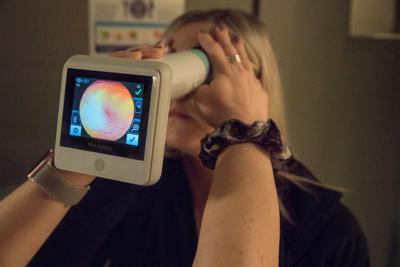 Eye test for diabetic retinopathy