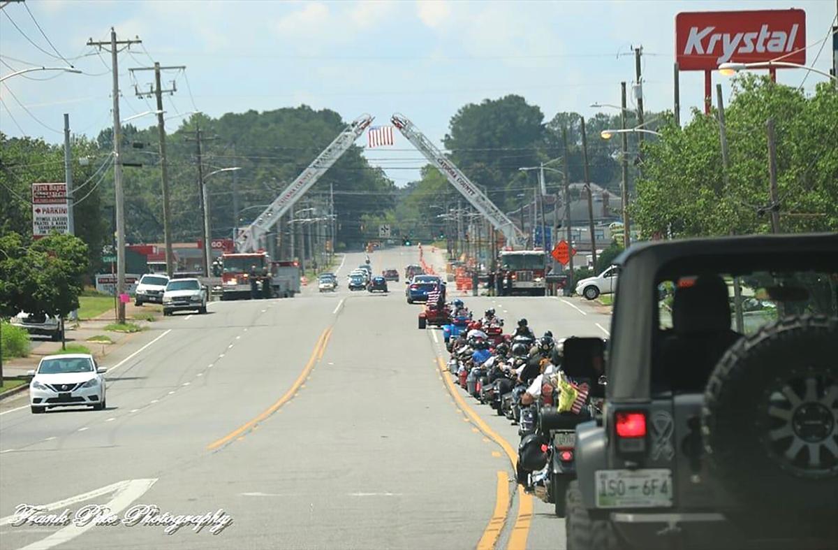 "Fire truck memorial ""bridge,"" Catoosa County"