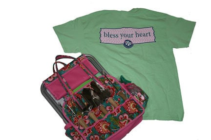 """""""It's a Girl Thing"""" southern t-shirt & Garden Tote which includes all the gardening hand tools you need."""