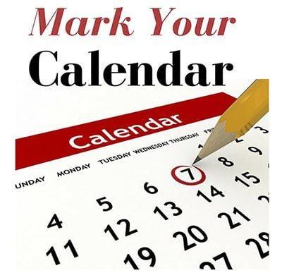 Community Calendar for Friday, May 7