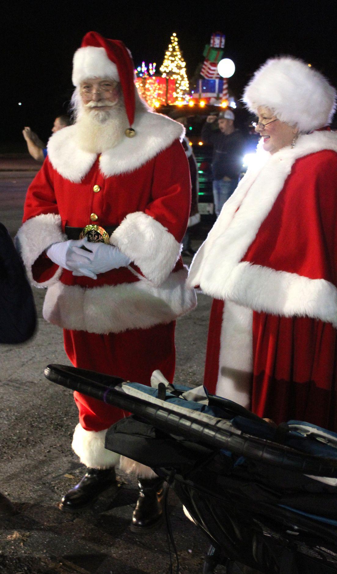 Santa before the parade