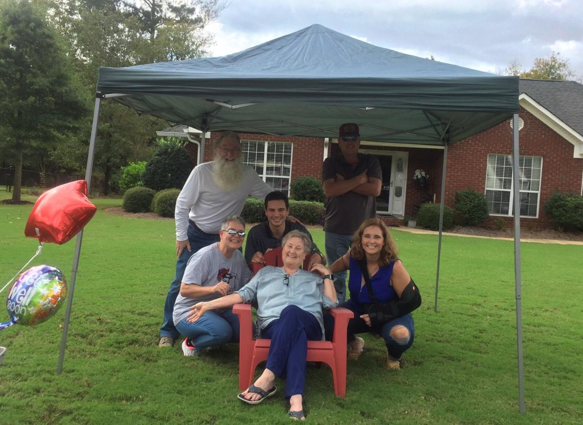 Neighbors, family and loved ones celebrate cancer-free diagnosis for Anne Brinkley