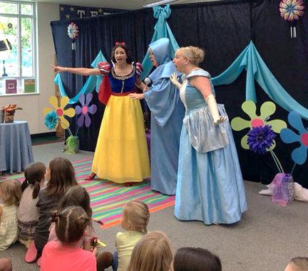 Princess characters come to life