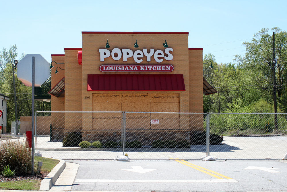 Popeyes Louisiana Kitchen Building west rome popeyes is still boarded up | local news