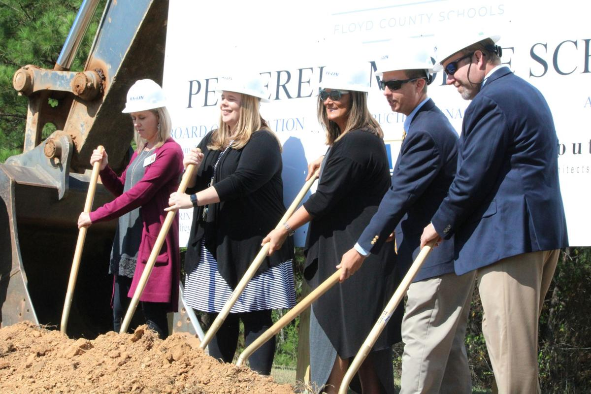 Ground breaks on new Pepperell Middle School