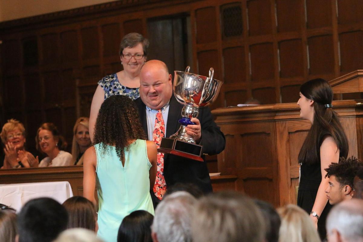 John Zazzaro awards the Centennial Cup during Honors Day.