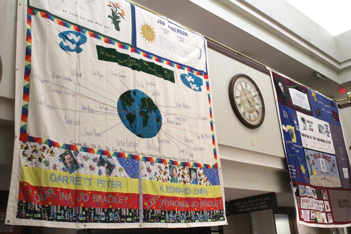 Remembrance and Awareness: Service and quilt display commemorate ... : world aids day quilt - Adamdwight.com
