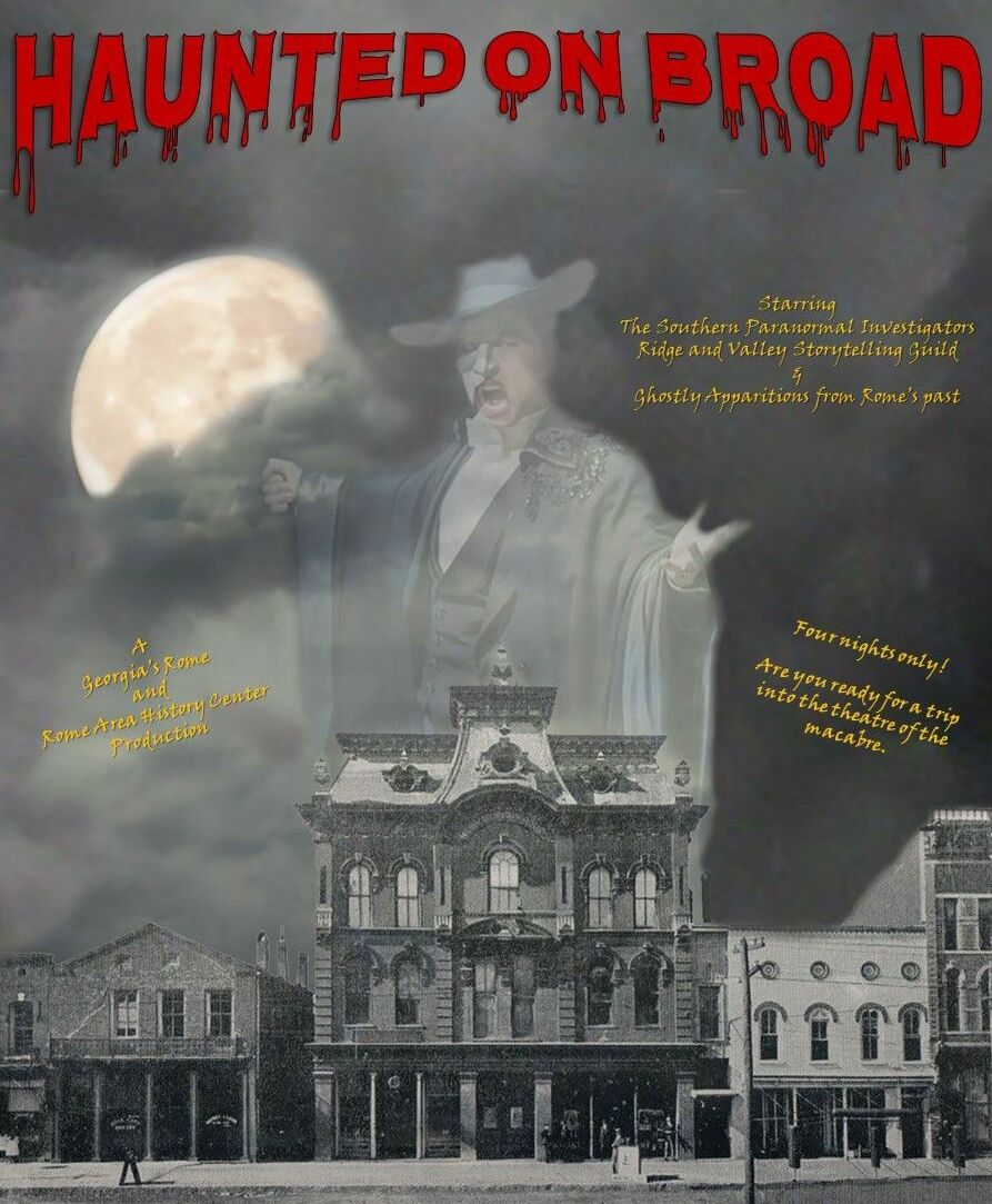 haunted on broad poster
