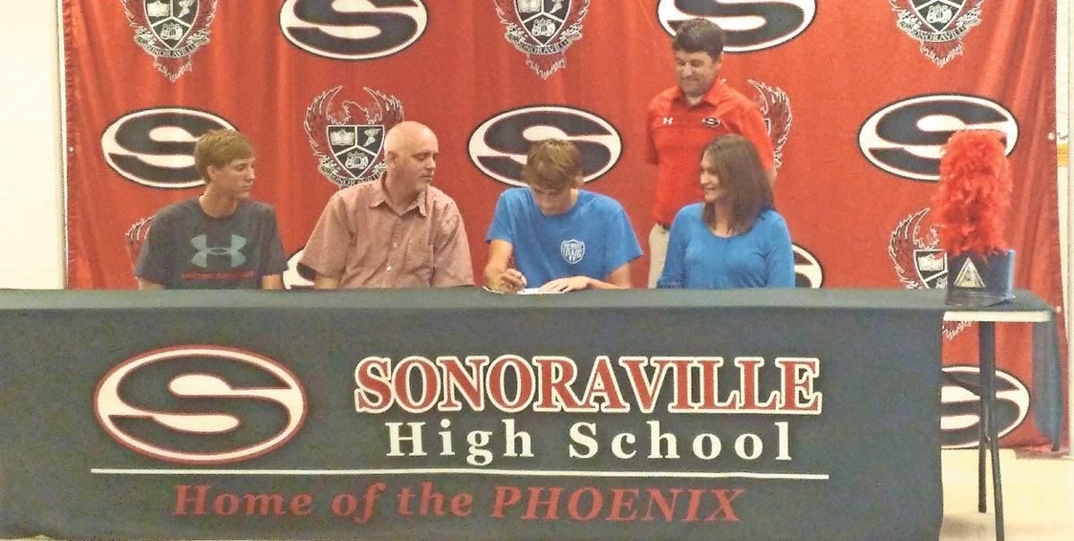 Sonoraville's Rickett signs band scholarship