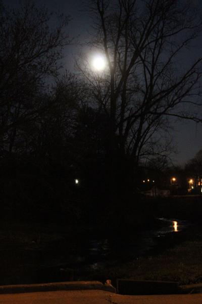 Super Moon over Big Spring Park