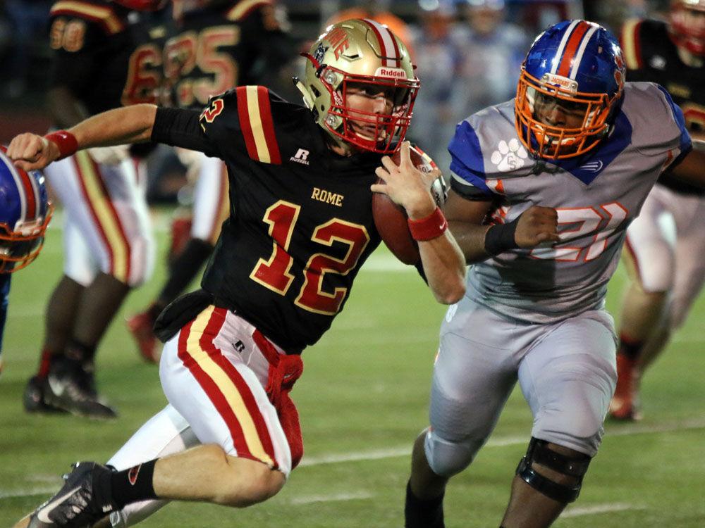 Rome High quarterback Knox Kadum
