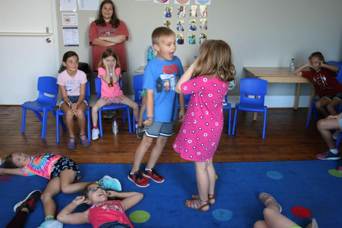 Young actors at Rome Little Theatre's summer camp