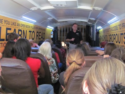 Mattie Stuart Foundations's school choice bus visits Polk County schools