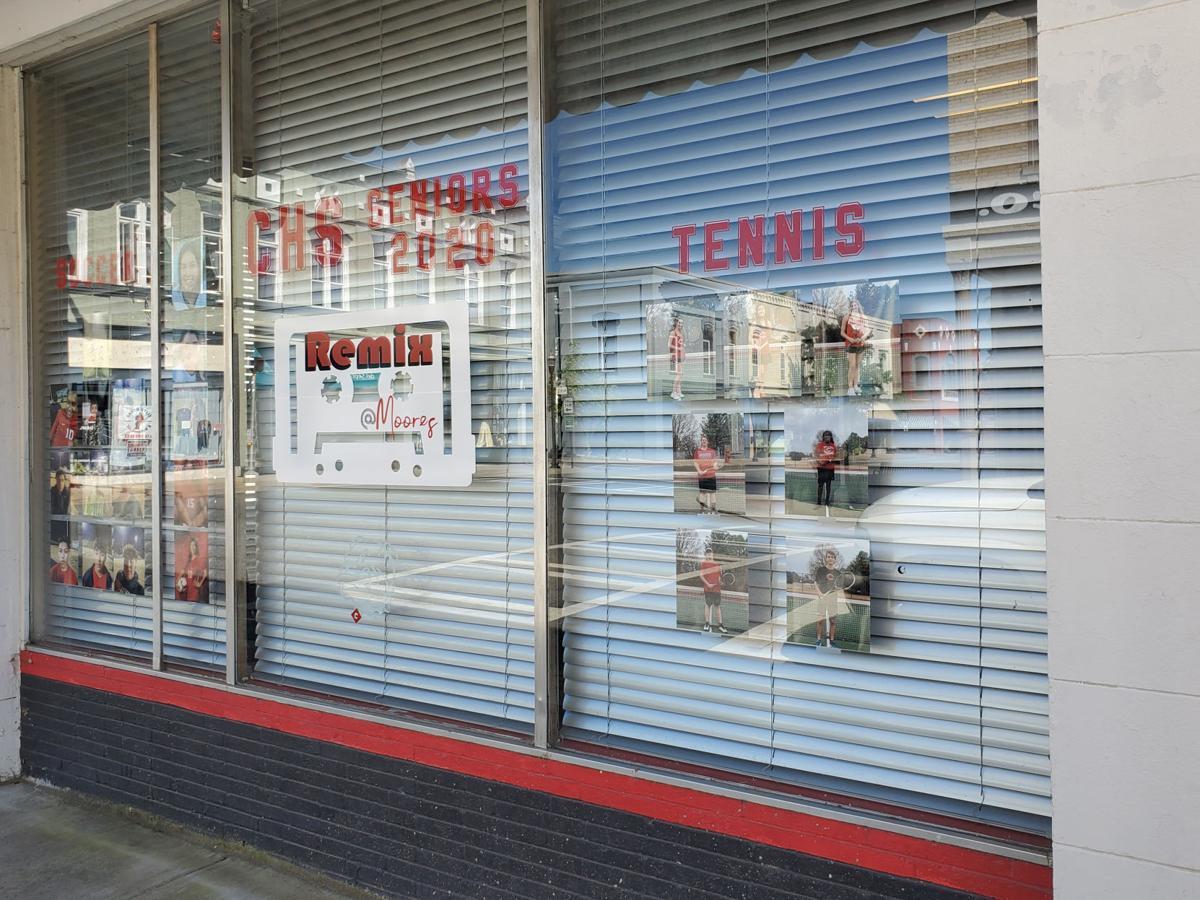 Seniors honored in shop window