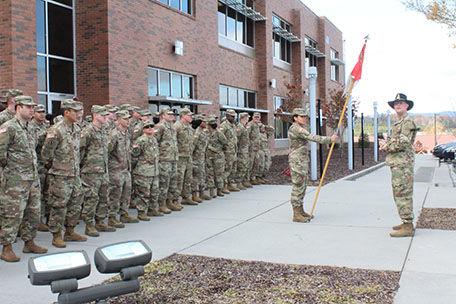 Soldier send-off