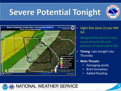 Severe weather possible tonight: Potential for strong winds, storms