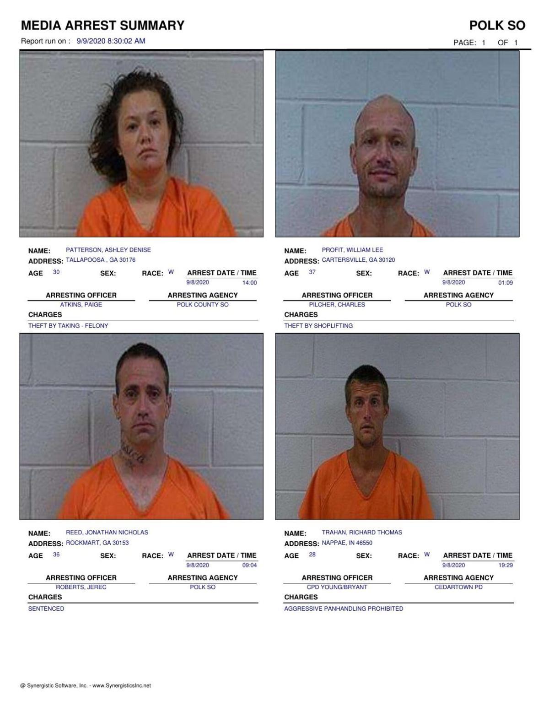 Polk County Jail Report for Wednesday, Sept. 9