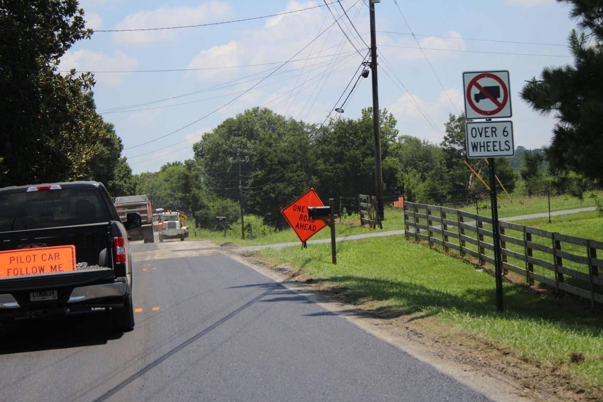 Cherokee Road Paving Project - July 2018