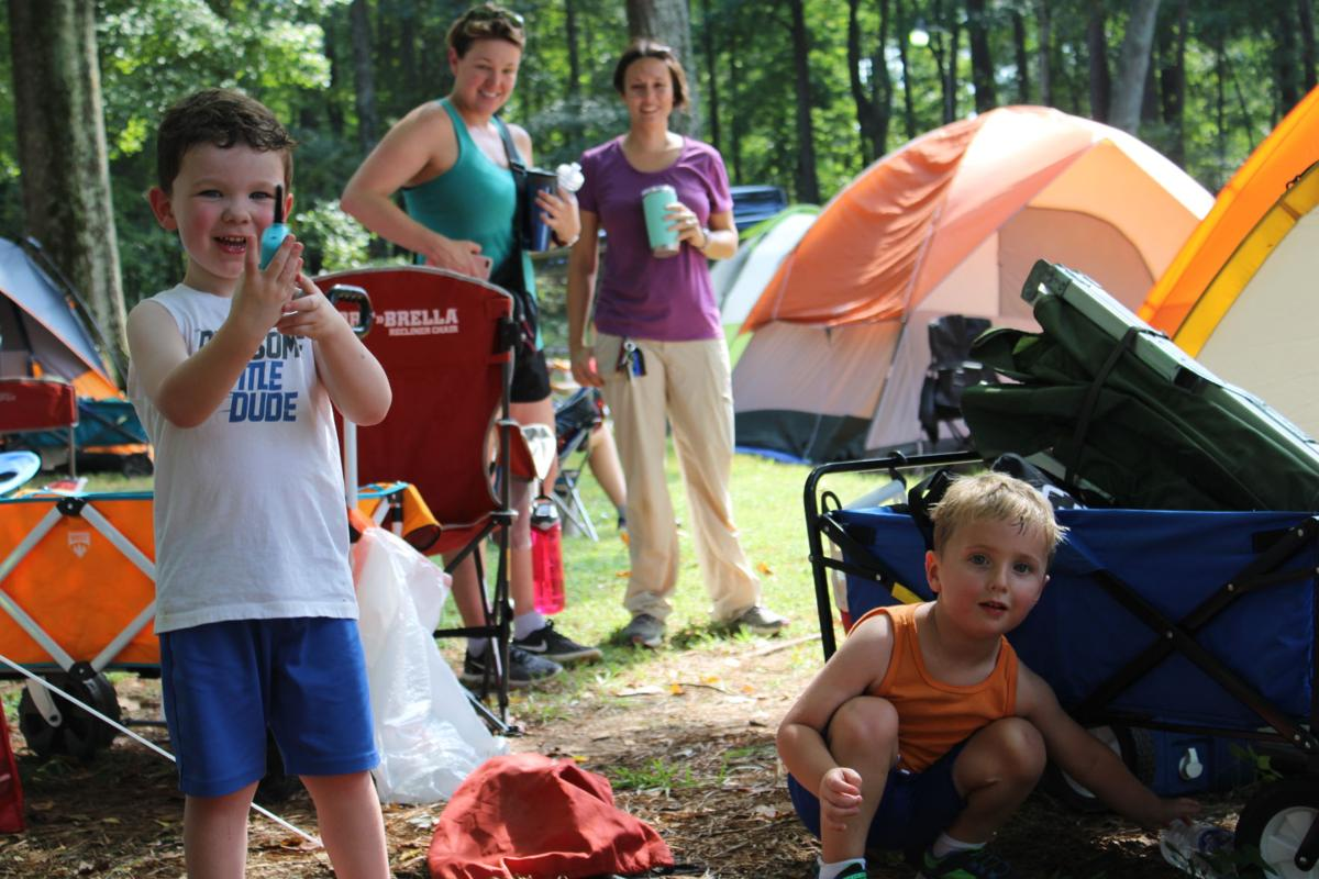 mom-son campout 2