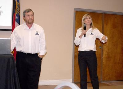 Jeff Mauer (left) and Mary Margaret Mauer