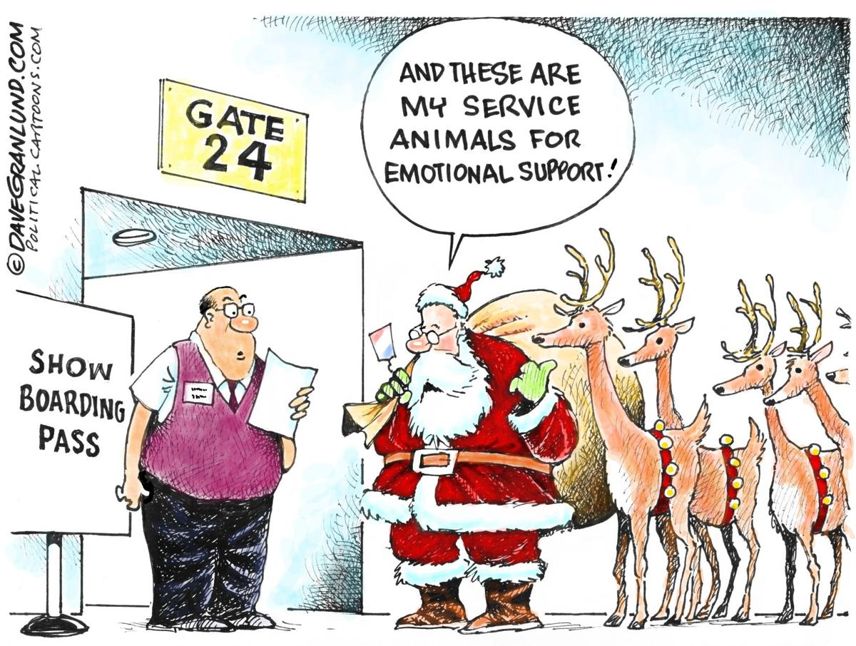 Santa's support animals