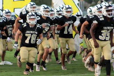 Jackets take the field for Black and Gold Game