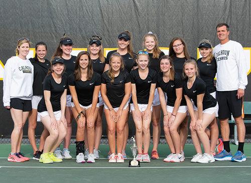 Calhoun girls tennis region champs 2018