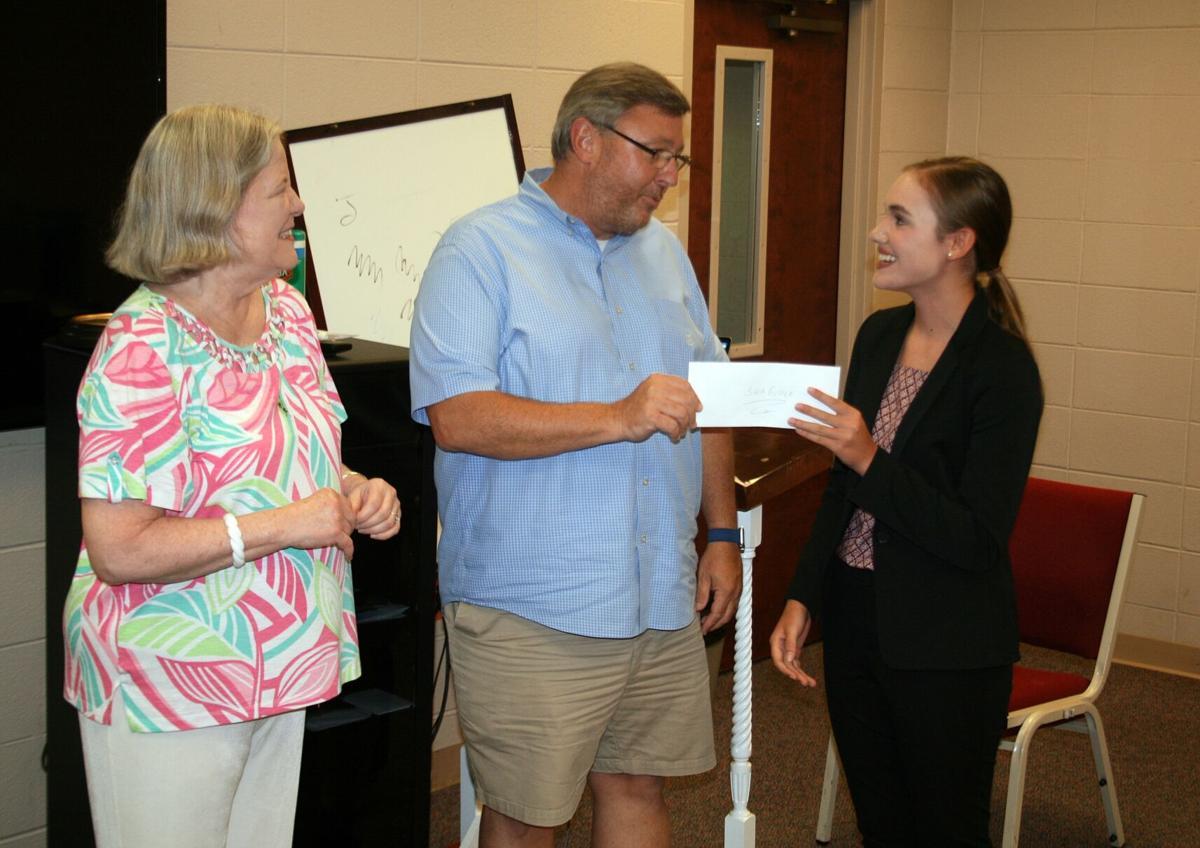 Sara Grace Abernathy gets $1,000 check