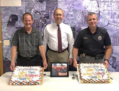 Officers retiring
