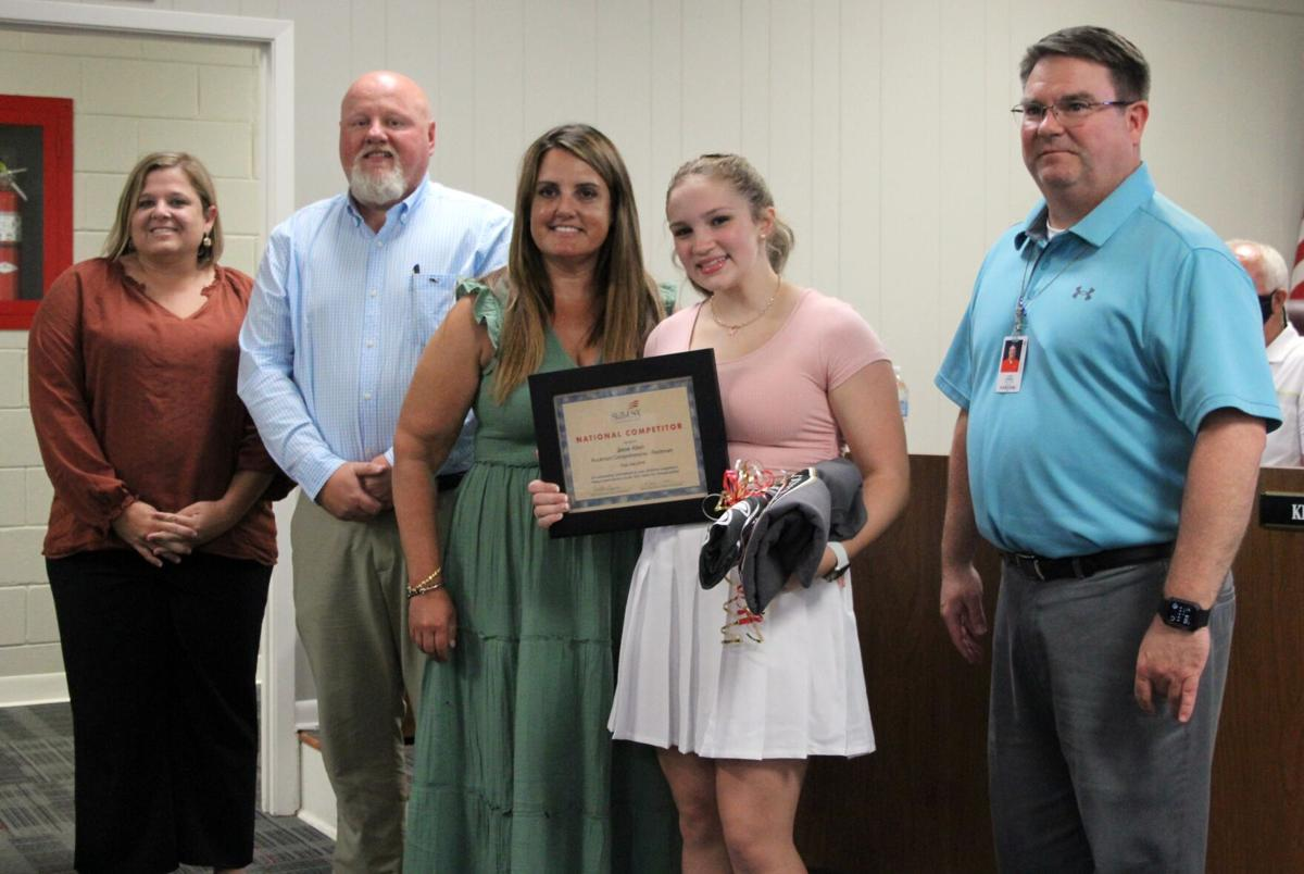 School board honors SkillsUSA student