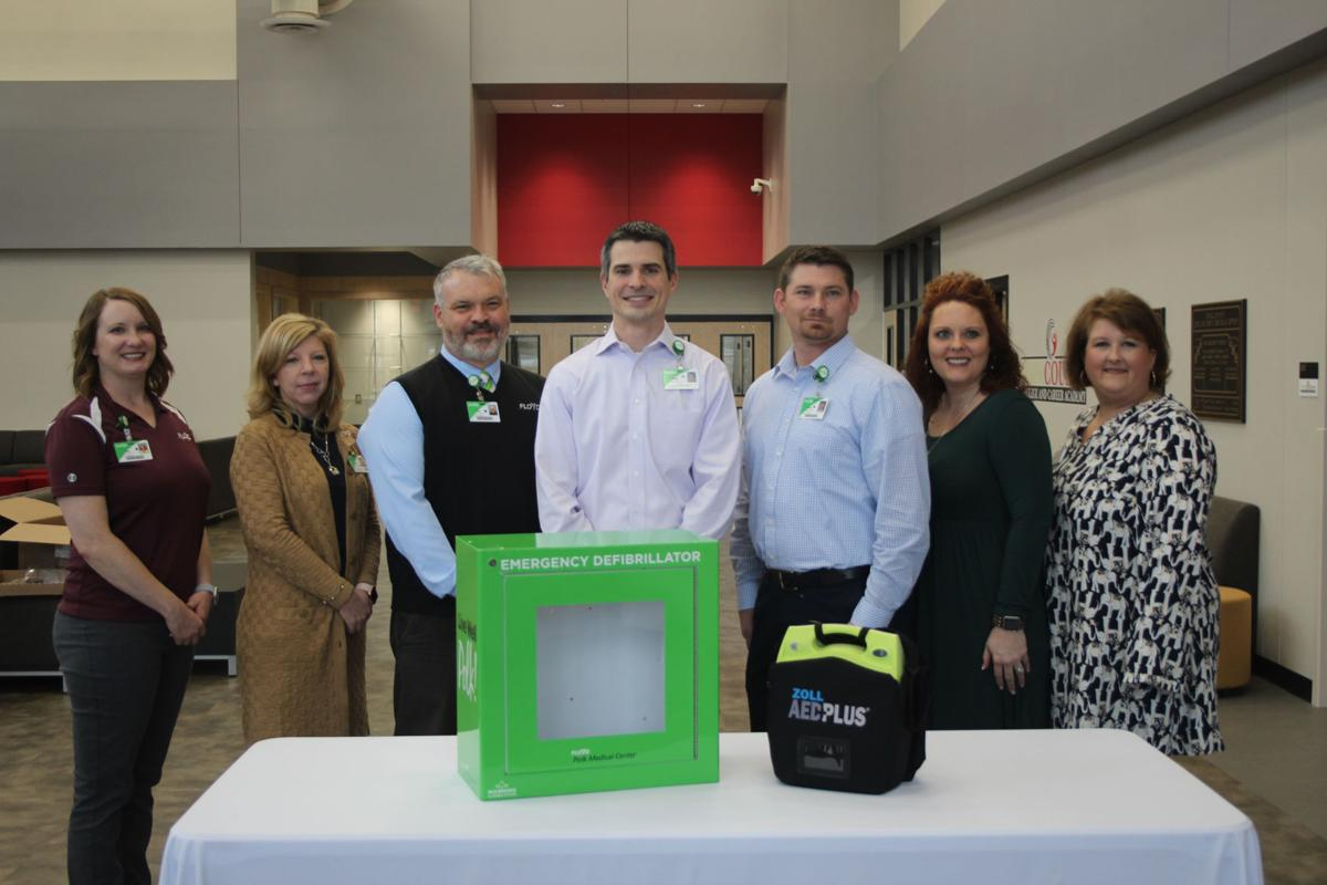 Polk Medical Center provides AED for College and Career Academy campus