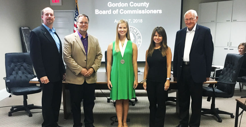 Distinguished Young Woman of Georgia visits latest Board of Commissioners meeting