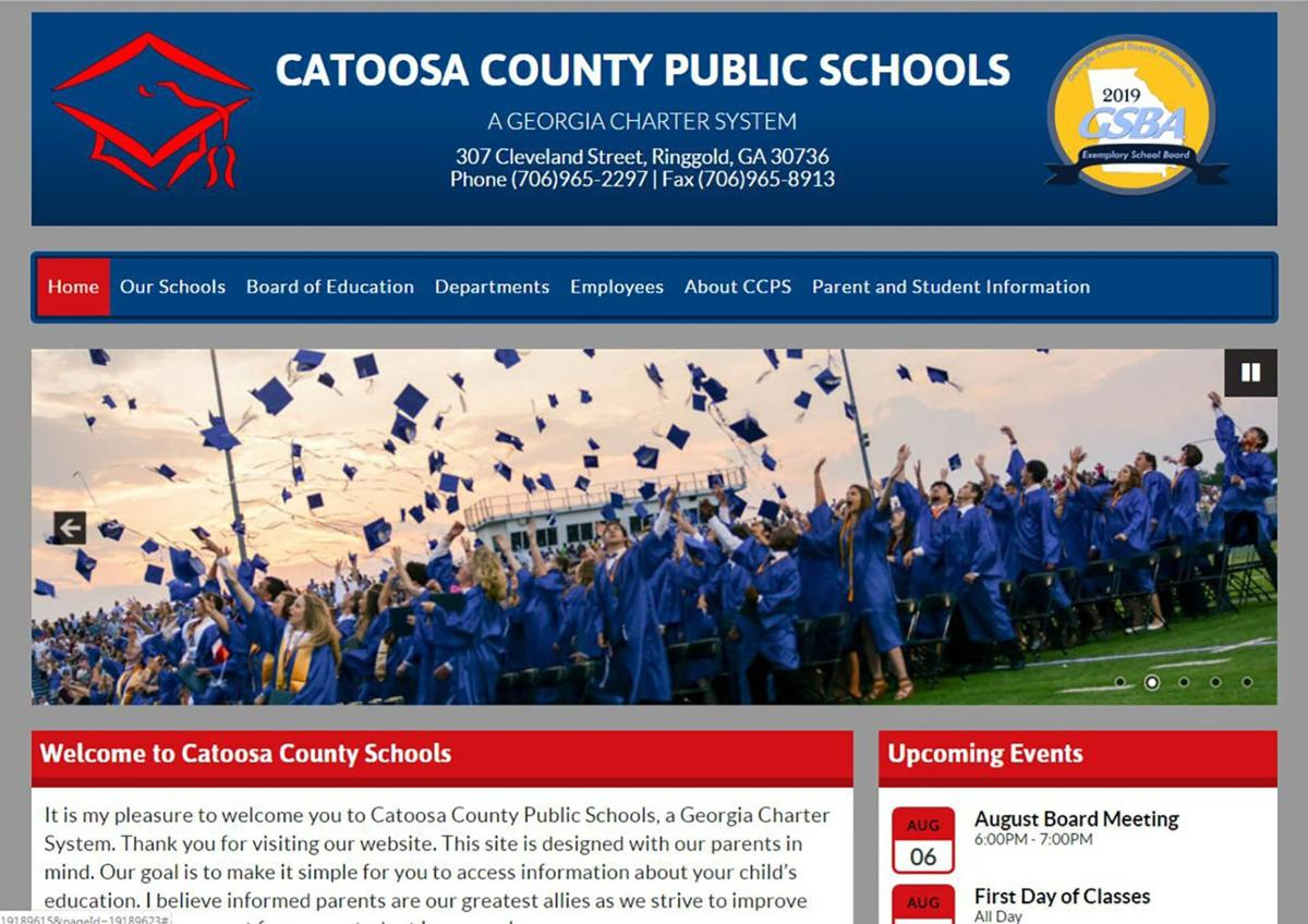 CCPS New Web Site header, homepage