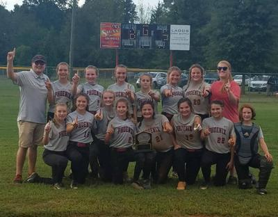 Red Bud Middle School softball claims title
