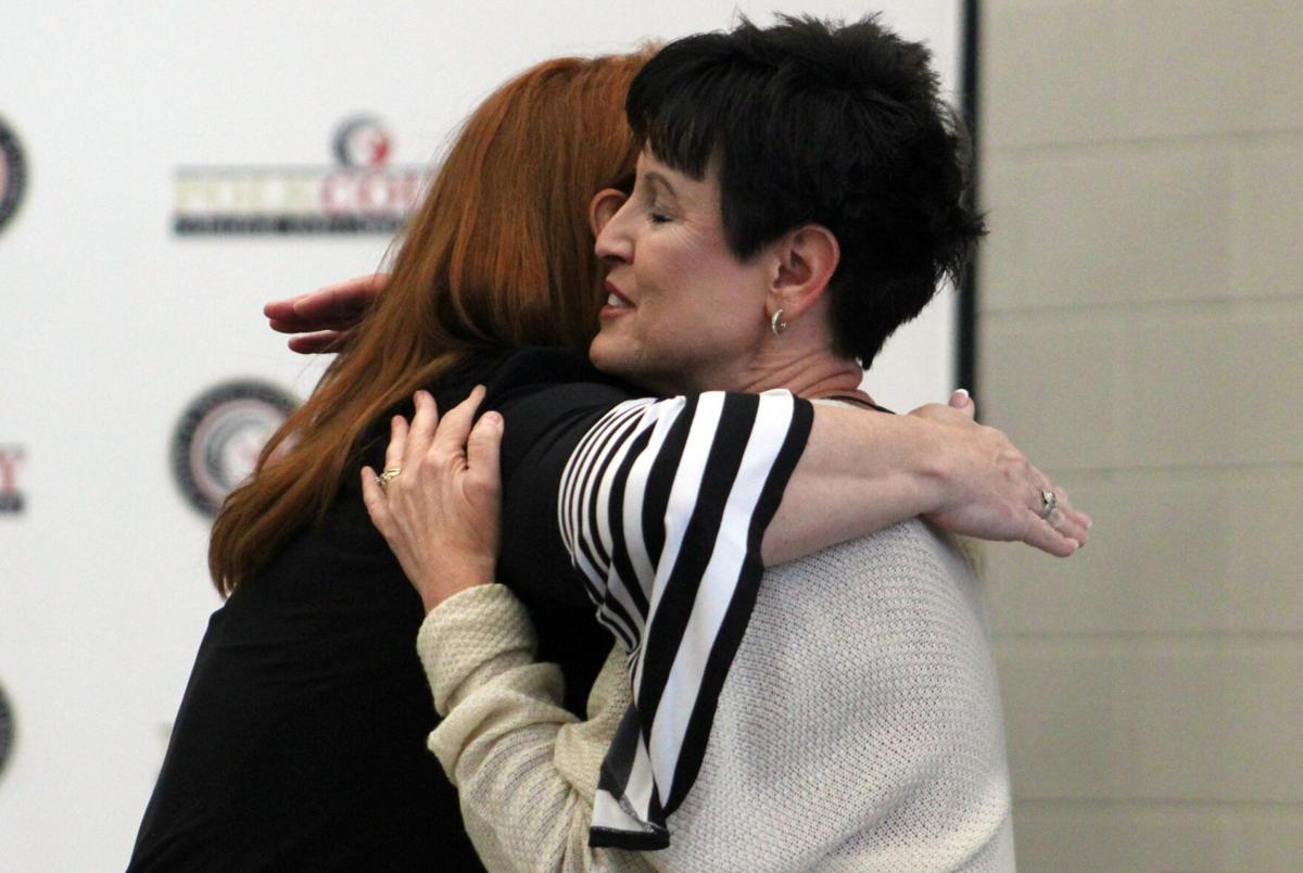 Atkins receives well wishes as she oversees final school board meeting as superintendent