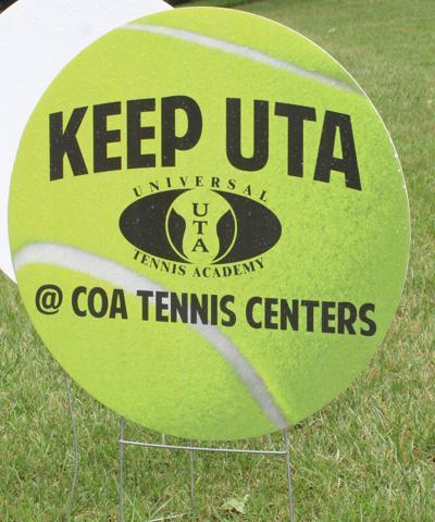Keep UTA tennis center sign