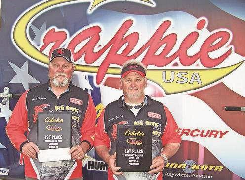 Local anglers win big in crappie tournament