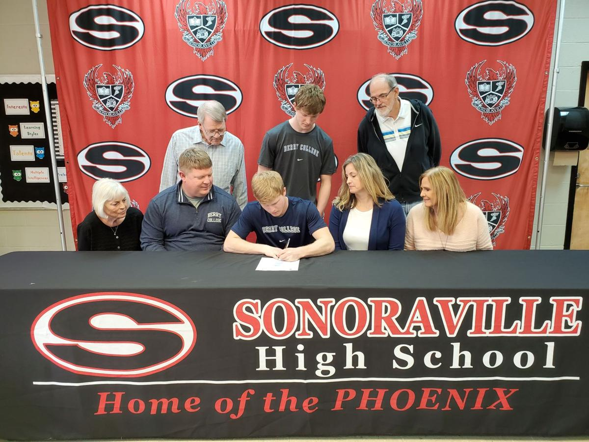 Blade Bryant signs football scholarship with Berry College