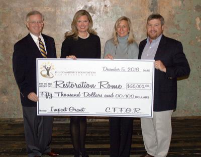 Community Foundation grant to Restoration Rome