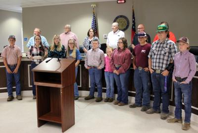 Polk County Junior Cattlemen's Association recognized by county commission