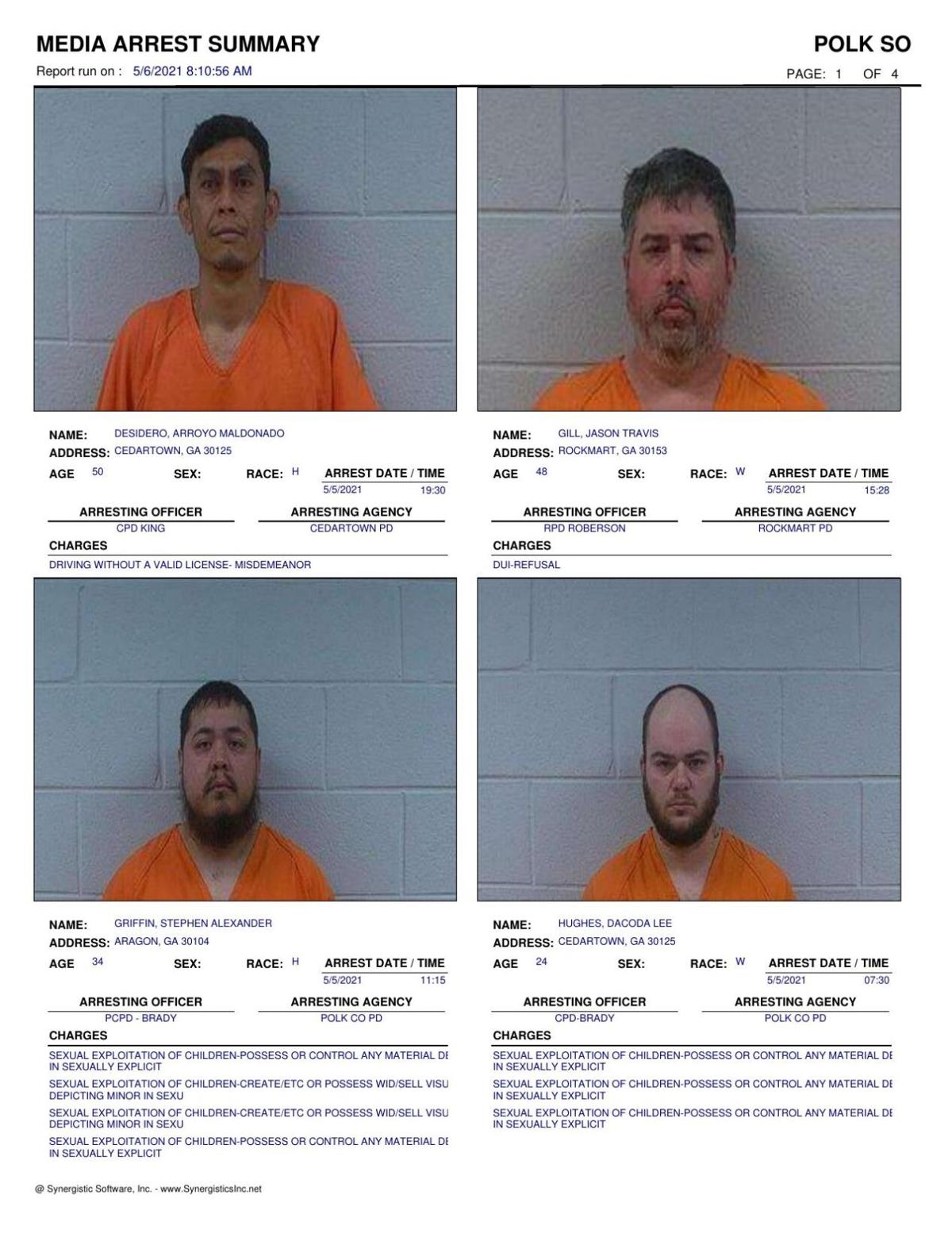 Polk County Jail Report for Thursday, May 6