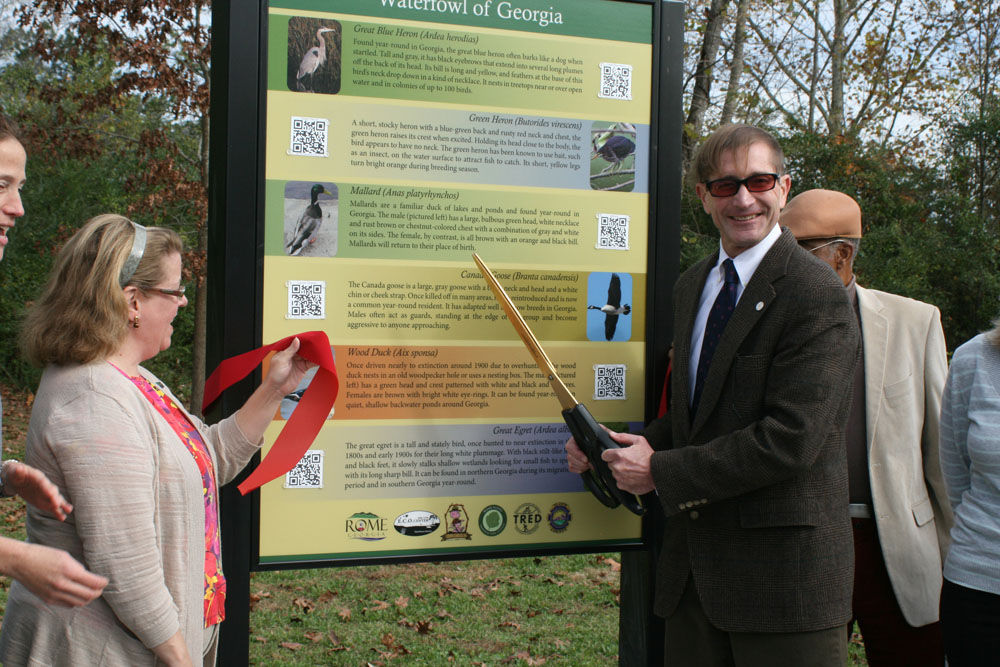 Rome's Heritage Trail signs offer bird sounds