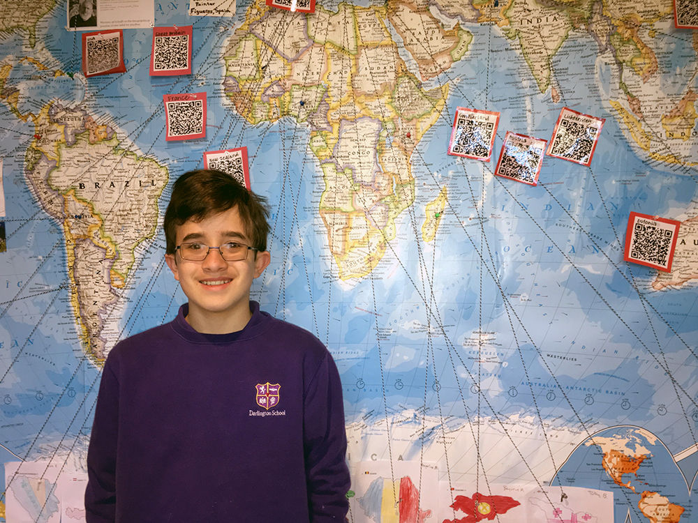 Darlington sixth-grader Ethan Von Bergen