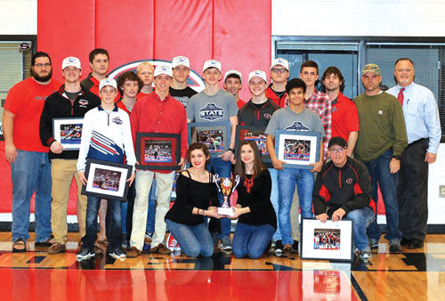 Sonoraville wrestling team honored for state title