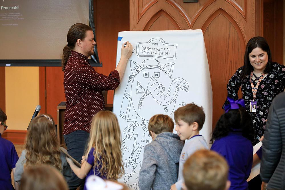 Illustrious illustrator illuminates Darlington Lower School