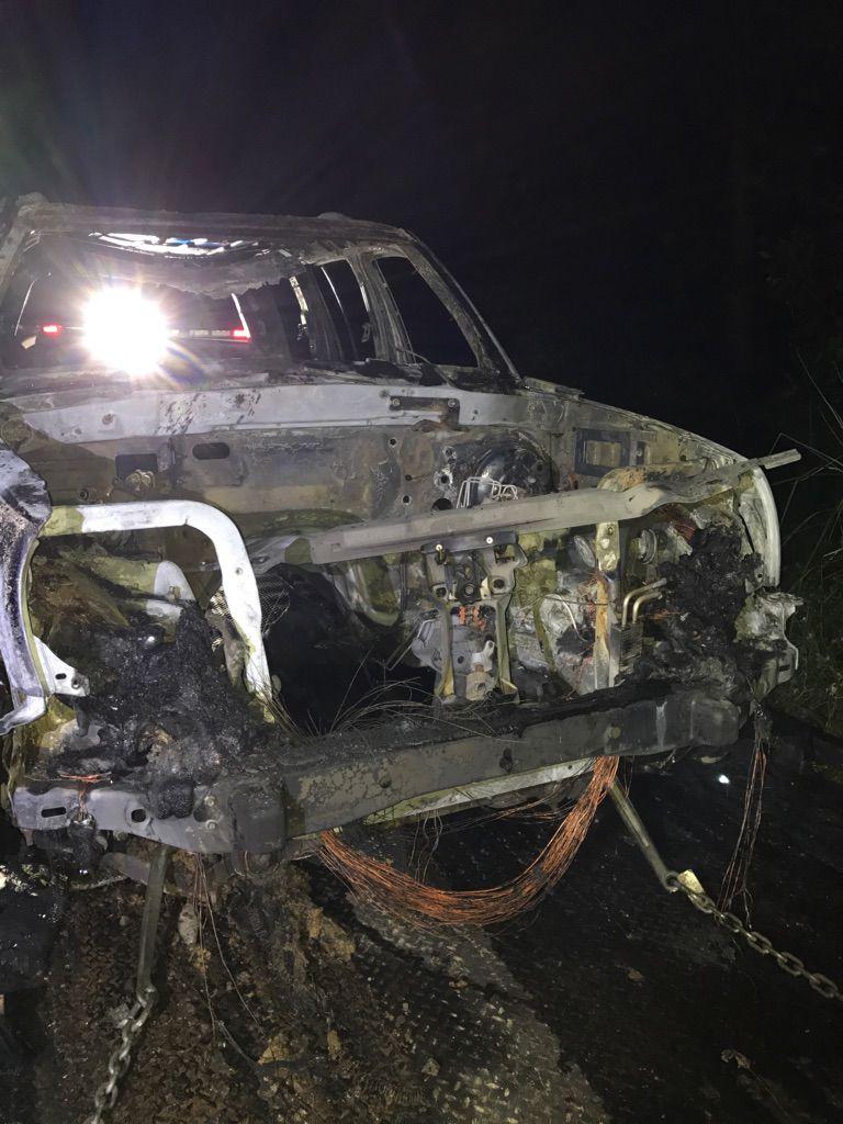Jeep Liberty burns in Polk County