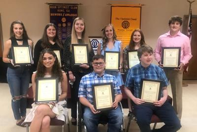 Students awarded in Rome Noon Optimist Club Student of the Year awards