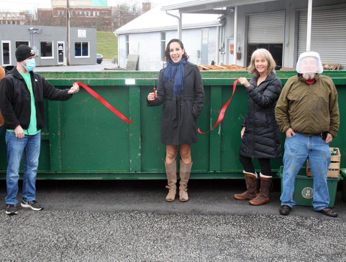 New glass recycling collection bin is now in place off Bale Street, behind the Makervillage