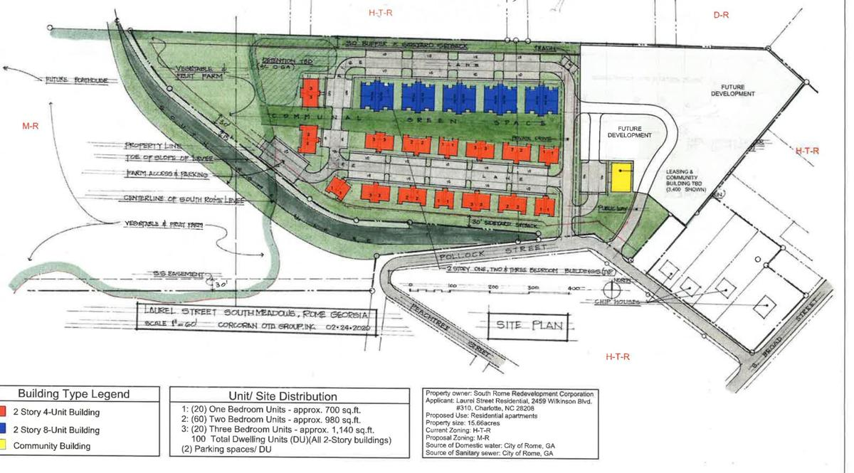 South Rome Redevelopment Corp looking at new apartment community on Pollock Street